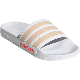 adidas Adilette Shower Slides Women footwear white/halo blush/solar red